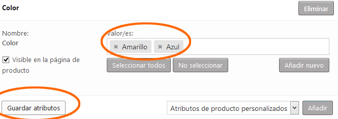 WooCommerce - Atributos Color