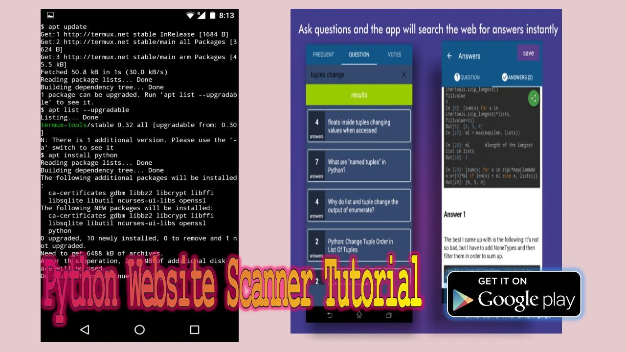 Python programming tutorial android apps on google play python programming tutorial screenshot baditri Gallery