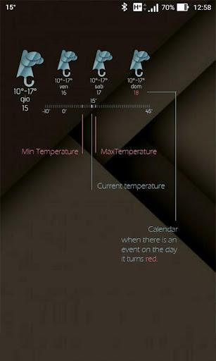 Meteo and calendar for Kustom