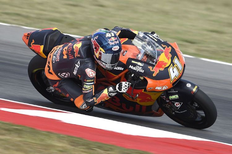 South African racer Brad Binder.    Photo: AJO RACING