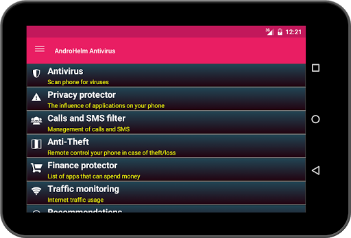 AntiVirus for Tablets v2.5.5