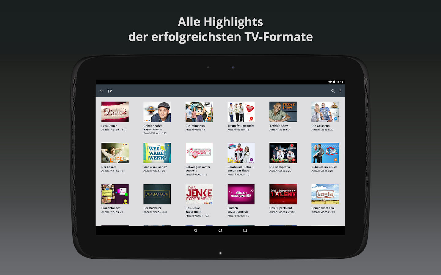 Clipfish: TV, Filme & Musik- screenshot
