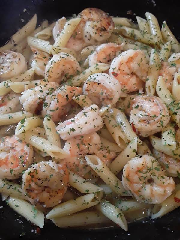 Spicy Shrimp Scampi W/penne Pasta