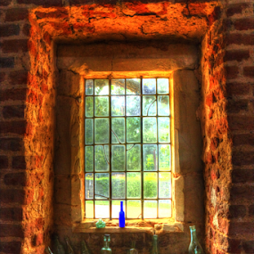A window on time by Gordon Bishop - Artistic Objects Glass ( old, hdr, window, glass, bottles, bottle, antique )