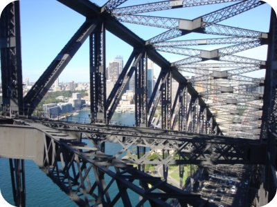 harbour bridge's inside structure