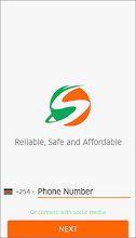 Safiri Digital Cabs Rider App screenshot thumbnail