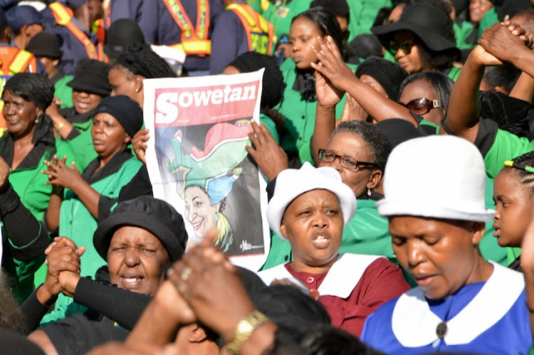 Mourners gather at Orlando Stadium for the funeral of Winnie Madikizela-Mandela.