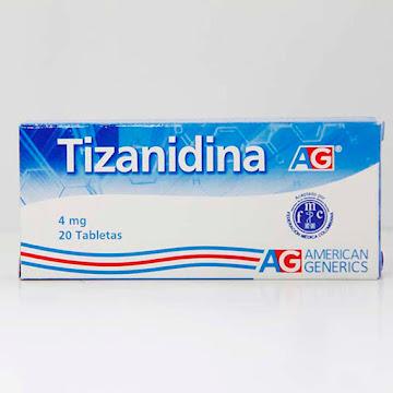 Tizanidina 4mg AG caja x   20 tabletas