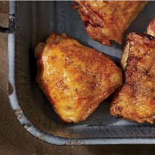 Crispy Salt-and-Pepper Grilled Chicken Thighs.