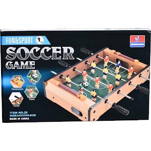 Joc fotbal de masa, Fun & Sport, lemn, 34 cm