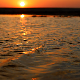 Water by sunset by Gil Reis - Nature Up Close Water ( places, sunset, portugal, natufre, water, life )
