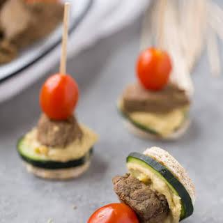 Steak and Hummus Pita Bites.