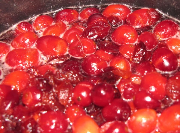 Bring the honey, salt, and cranberry juice to a boil in a medium saucepan.  Stir...