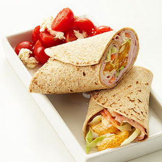 Ham and Citrus Coleslaw Wrap