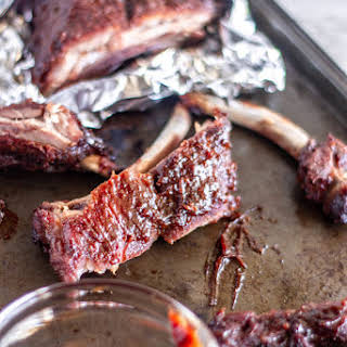 Crazy Tender Oven Ribs with Spicy Citrus Brown Sugar Glaze.