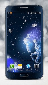 Snowflake Live Wallpaper screenshot 1