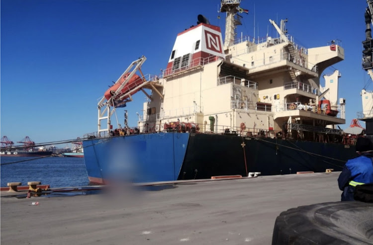 The Indian cargo vessel docked at the Durban harbour has been quarantined after a crew member died and 14 others have been taken for Covid-19 testing. It arrived on Sunday transporting rice.