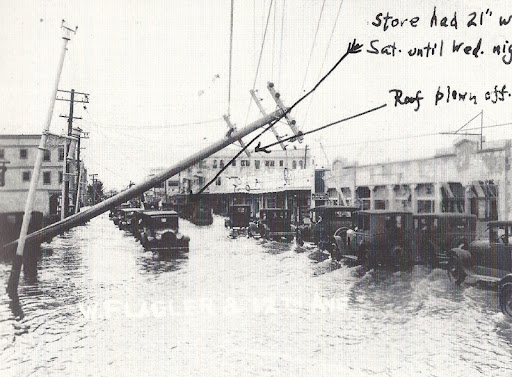 Fine-Goldman Store flooded at Great Miami Hurricane of 1926