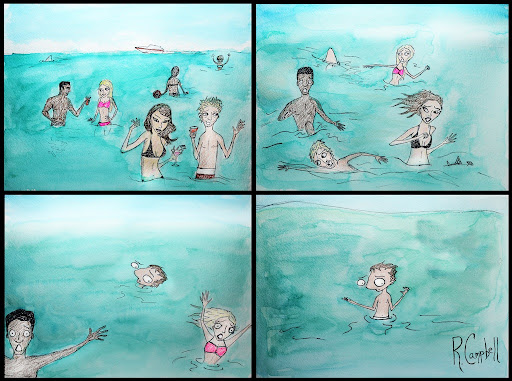 Spring Break | Beached Miami Cartoon