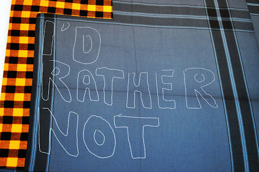 "Cosima van Bonin Patchwork ""I'd Rather Not"""