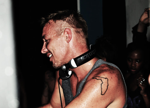 Diplo spinning sweaty at BAR