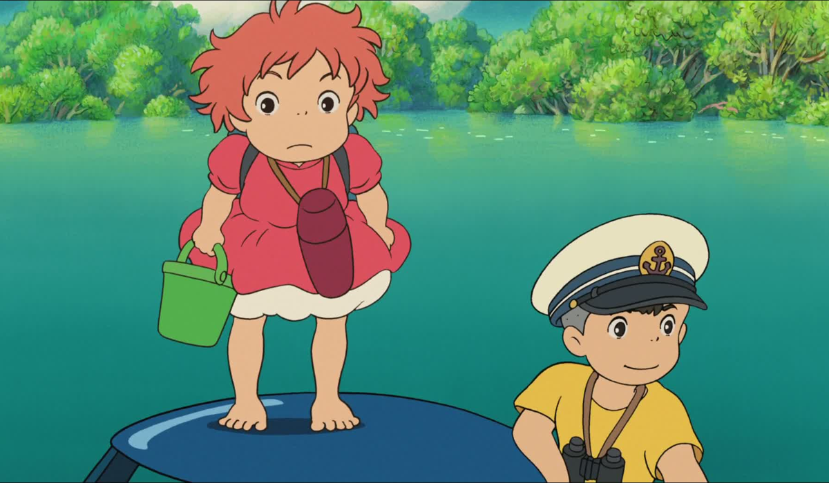 Ponyo and her friend-Sōsuke