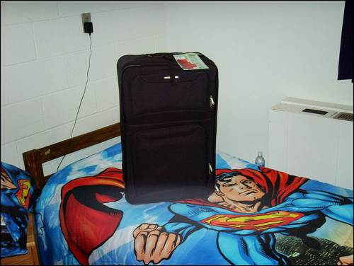 Maybe the Superman bedsheets are why no lovely ladies spend much time in my room...
