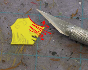Cutting out space marine symbols