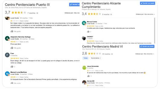 Las delirantes opiniones de las cárceles españolas en Google: está El Acebuche
