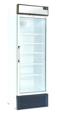 Glasdeurkasten T500/LUX VITRINE 429LT LUX - +2°/+10°C- VERTICALE VERLICHTING +CANOPY