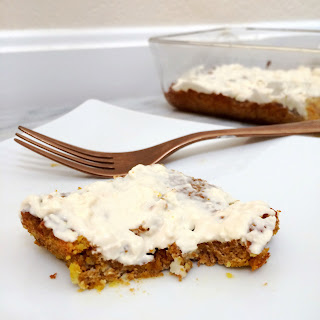 LCHF Pumpkin Spice Cake with Cream Cheese Frosting