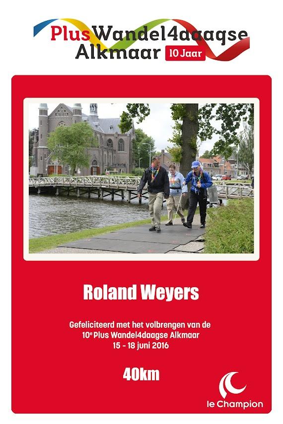 Digitaal certificaat van de 10e Plus Wandelvierdaagse Alkmaar