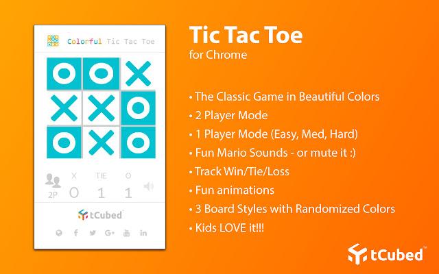 Colorful Tic-Tac-Toe