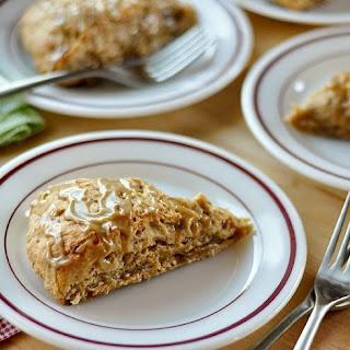 Banana Bread Scones with Brown Sugar Glaze.