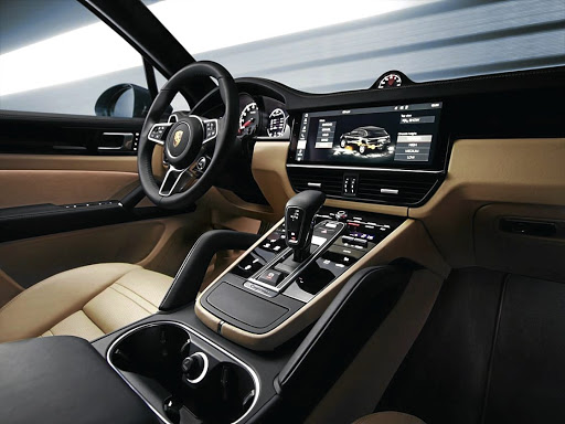 The Porsche Cayenne sports a Porsche Advanced Cockpit layout anchored by 12.3-inch touchscreen.