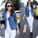 Women Jeans Photo Suit : Girls Fashion Photo Frame
