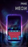 Screenshot of Pink Neon Keyboard GO