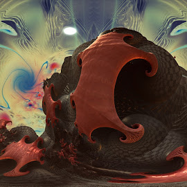 Crabbles; On The Shore by Rick Eskridge - Illustration Sci Fi & Fantasy ( jwildfire, mb3d, fractal, acdsee 19, twisted brush )