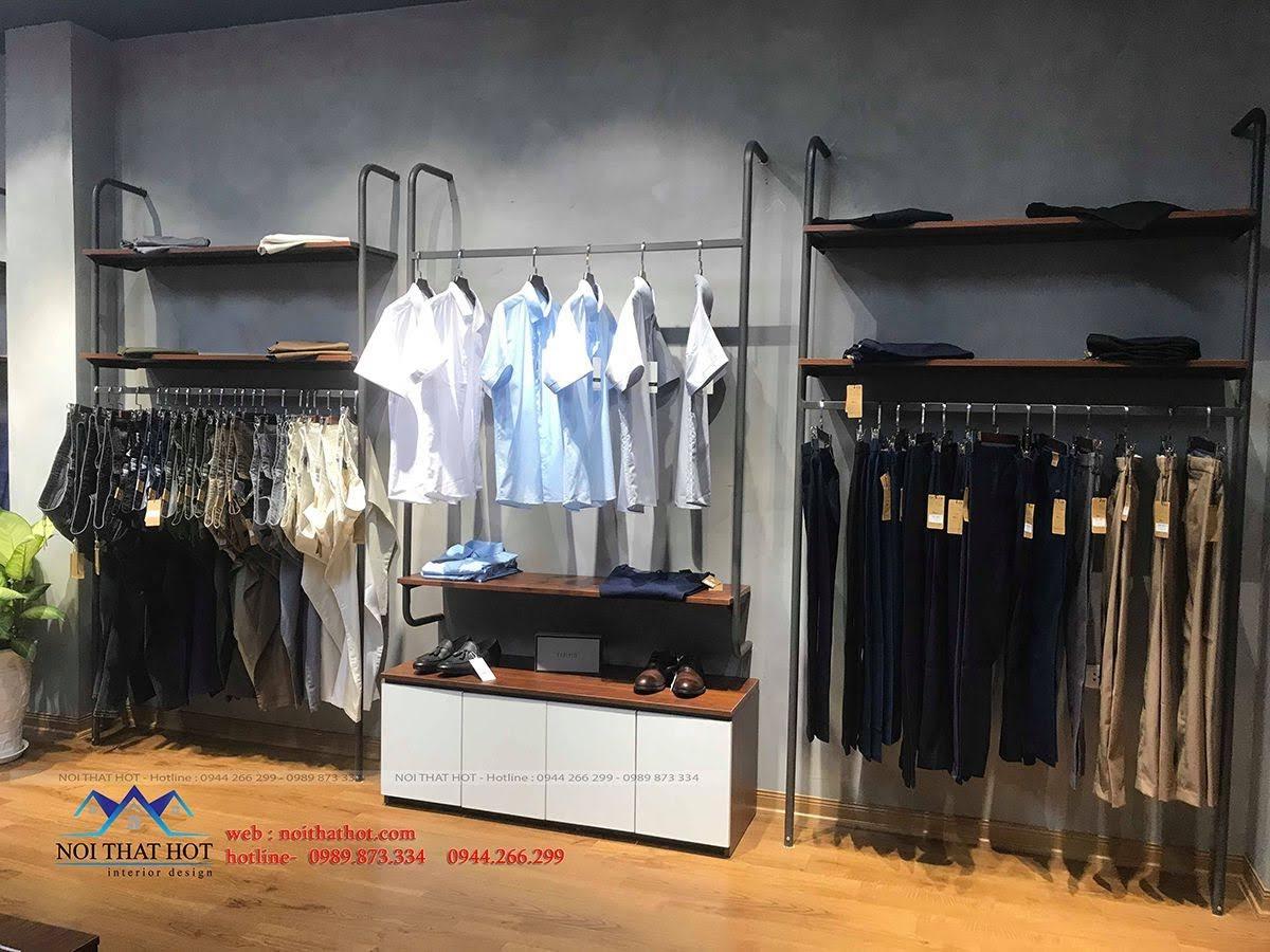 thiết kế thi công shop thời trang nam polido 12
