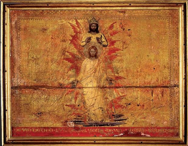 Benedetto di Bindo, 1412 circa, Articolo del Credo:Dio da Dio, luce da luce, Dio vero da Dio vero, tavola lignea, Siena, Museo dell'Opera del Duomo
