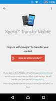 Screenshot of Xperia™ Transfer Mobile