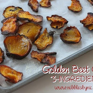 Golden Beet Chips (3-INGREDIENTS!)