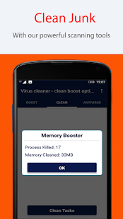 cleaner virus - clean boost optimize 2018 - náhled