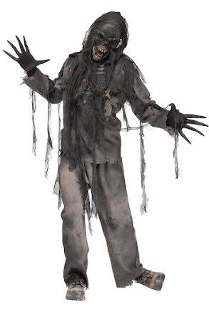 Dräkt, bränd zombie