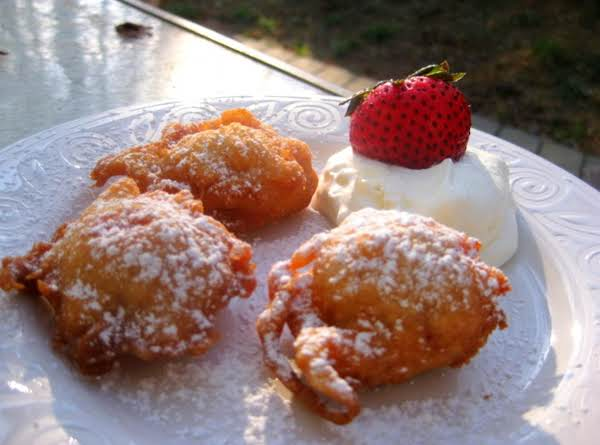 Strawberry Beignets With Homemade Whipped Cream