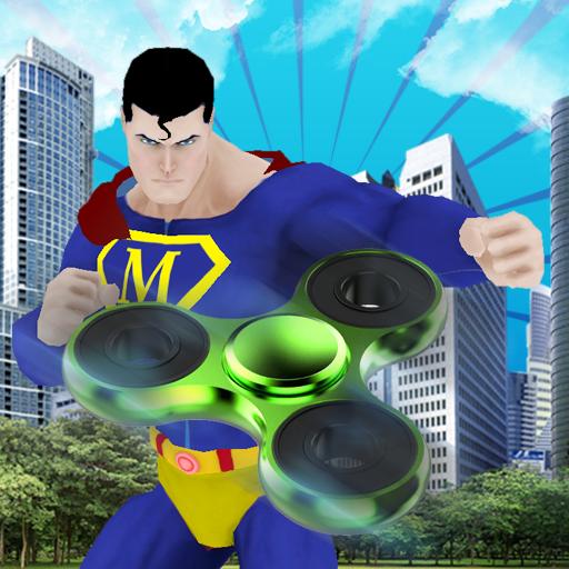 Fidget Spinner Heroes vs City Gangsters