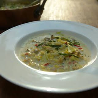 British Seaside Chowder With Saffron.