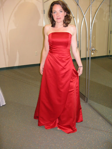 Red Bridesmaid Dress Gown