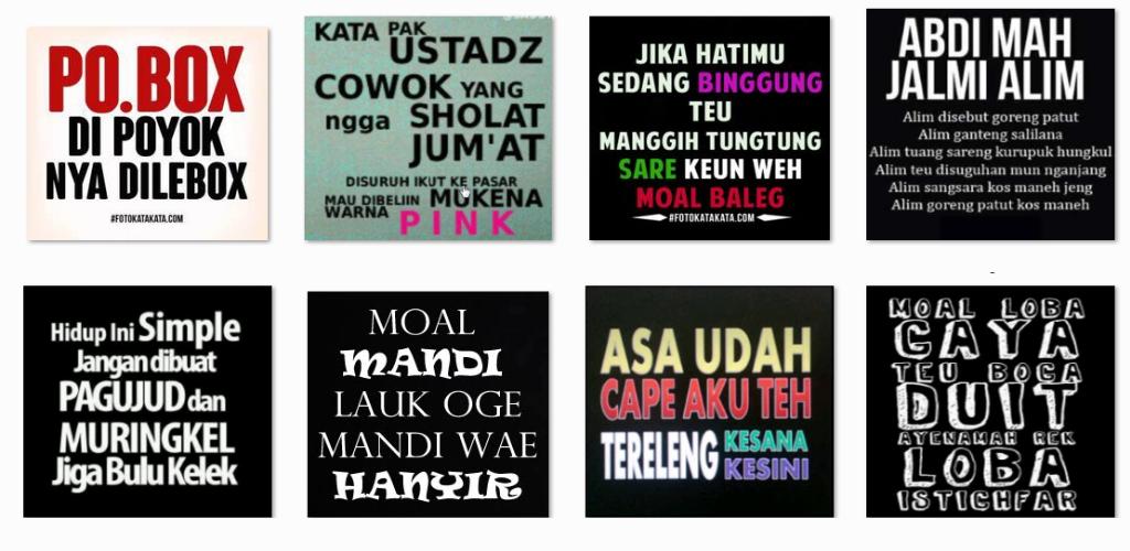 Gambar Kata Bahasa Sunda Lucu 2 1 3 Apk Download Com Map Sundalucu Apk Free