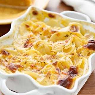 Slow-Cooked Potatoes Au Gratin.